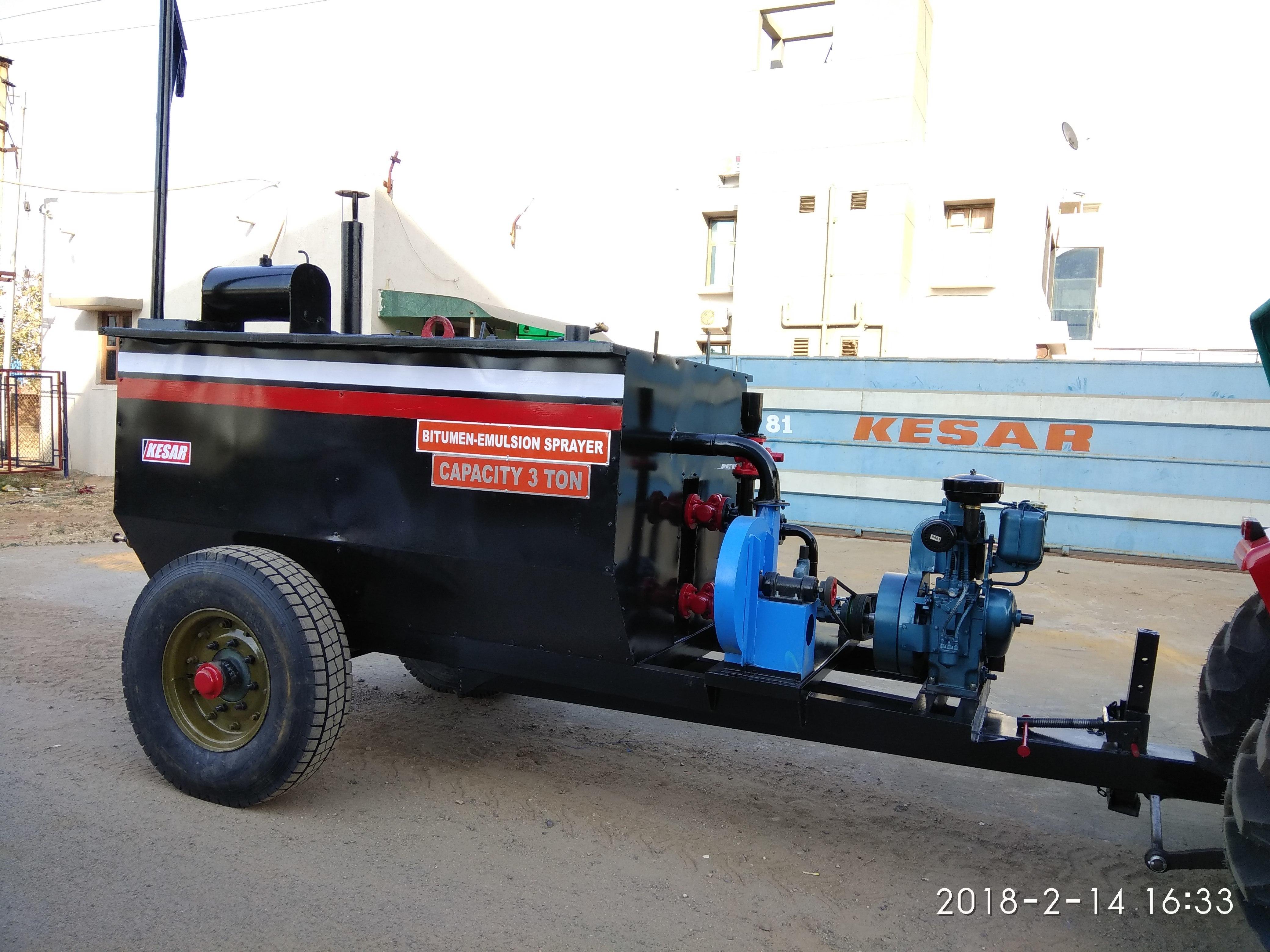 Tractor Mounted Bitumen Emulsion Sprayer