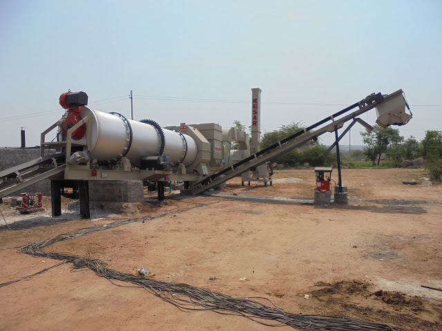 Road Asphalt Drum Mix Plant