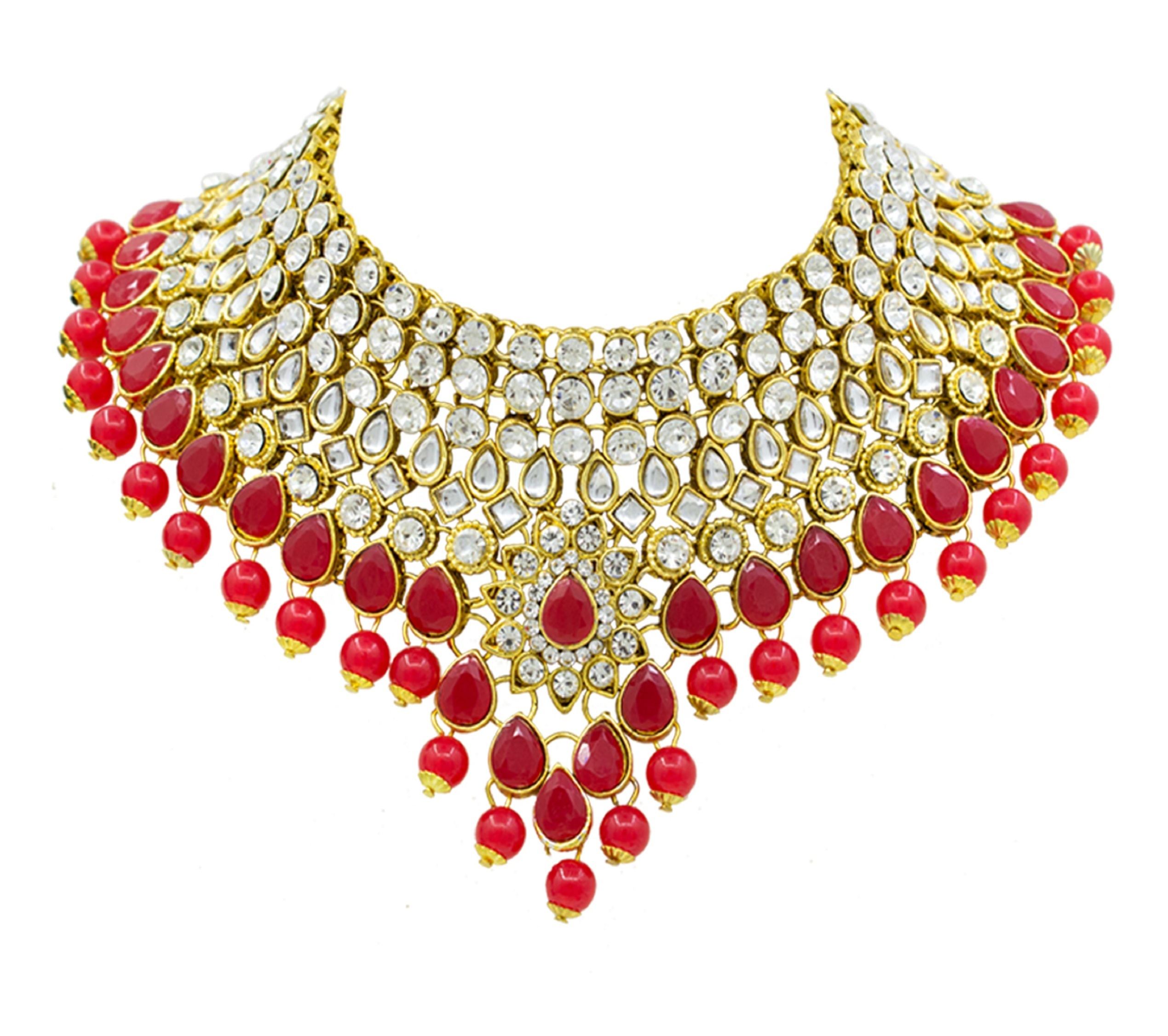 Attractive Gold Plated Necklace Set For Women
