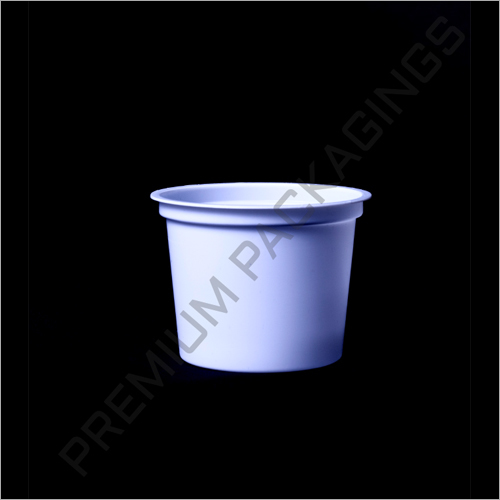 White Plastic HIPS Cup