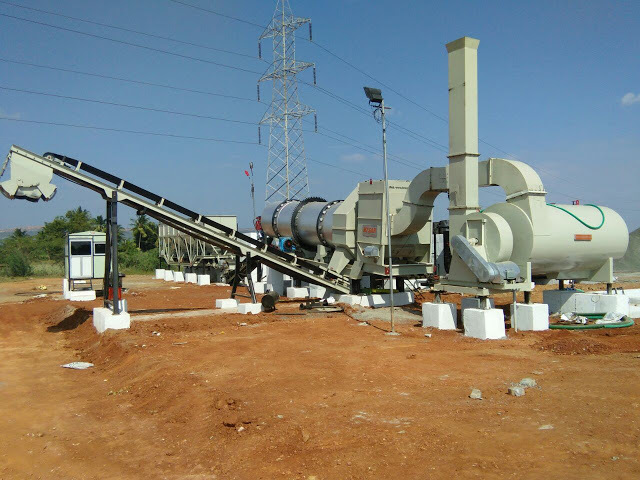 Stationary Asphalt Drum Mix Plant