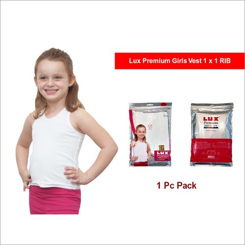 Lux Premium 1 Pc Pack Girls 1x 1RIB Vest