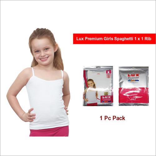 Lux Premium Girls  1x1 Rib Spaghetti
