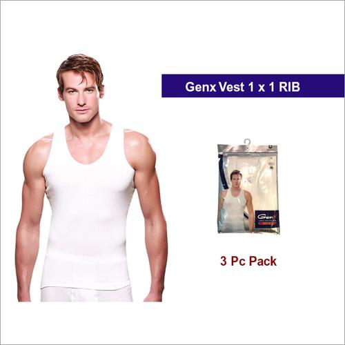 Genx 3 Pc Pack Mens White Vests