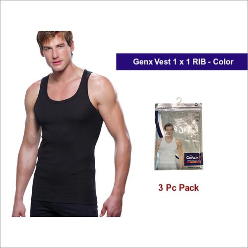 Genx 3Pc Pack Mens Black Vests