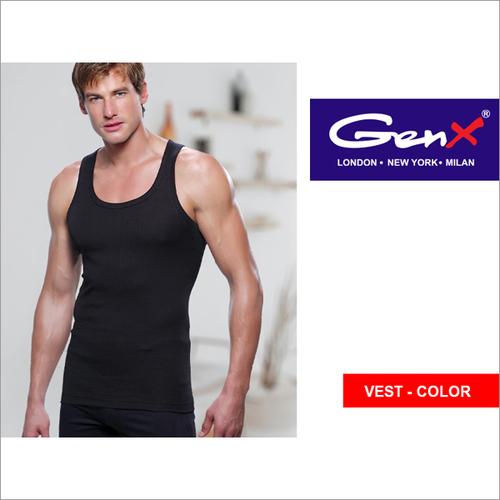 Genx Mens Black Vests