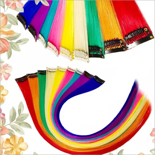 Rainbow Color Hair Streaks