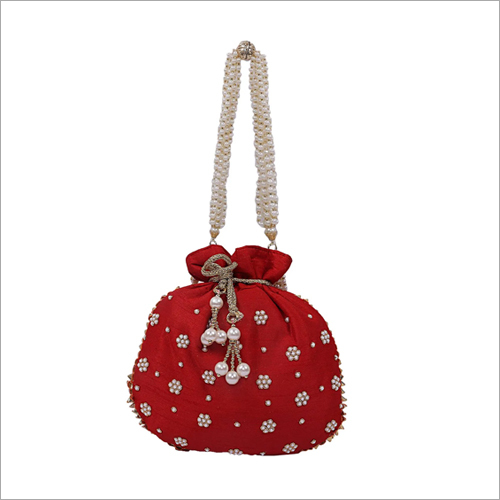Ladies Beaded Pouch Bag