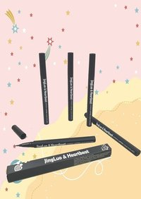 JingLuo And Heartbeat Anti-halo Waterproof and oil proof Liquid Eyeliner