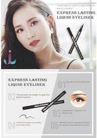 JingLuo And Heartbeat Anti-halo Waterproof and oil proof Liquid Eyeliner