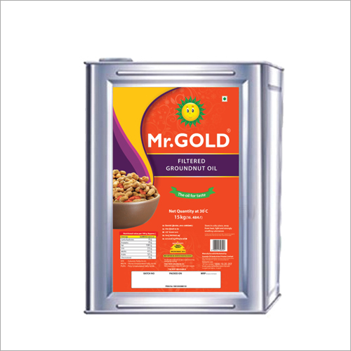 15 KG Filtered Groundnut Oil Tin