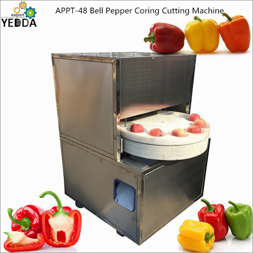 Bell Pepper Coring Cutting Machine