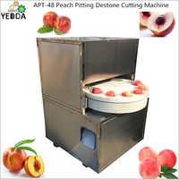 Peach Pitting Destone Cutting Machine