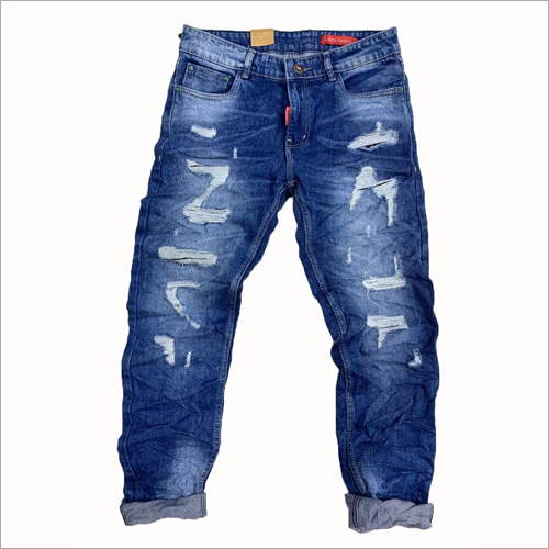 Mens Casual Ripped Jeans