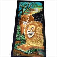Kids Lion Printed Towels
