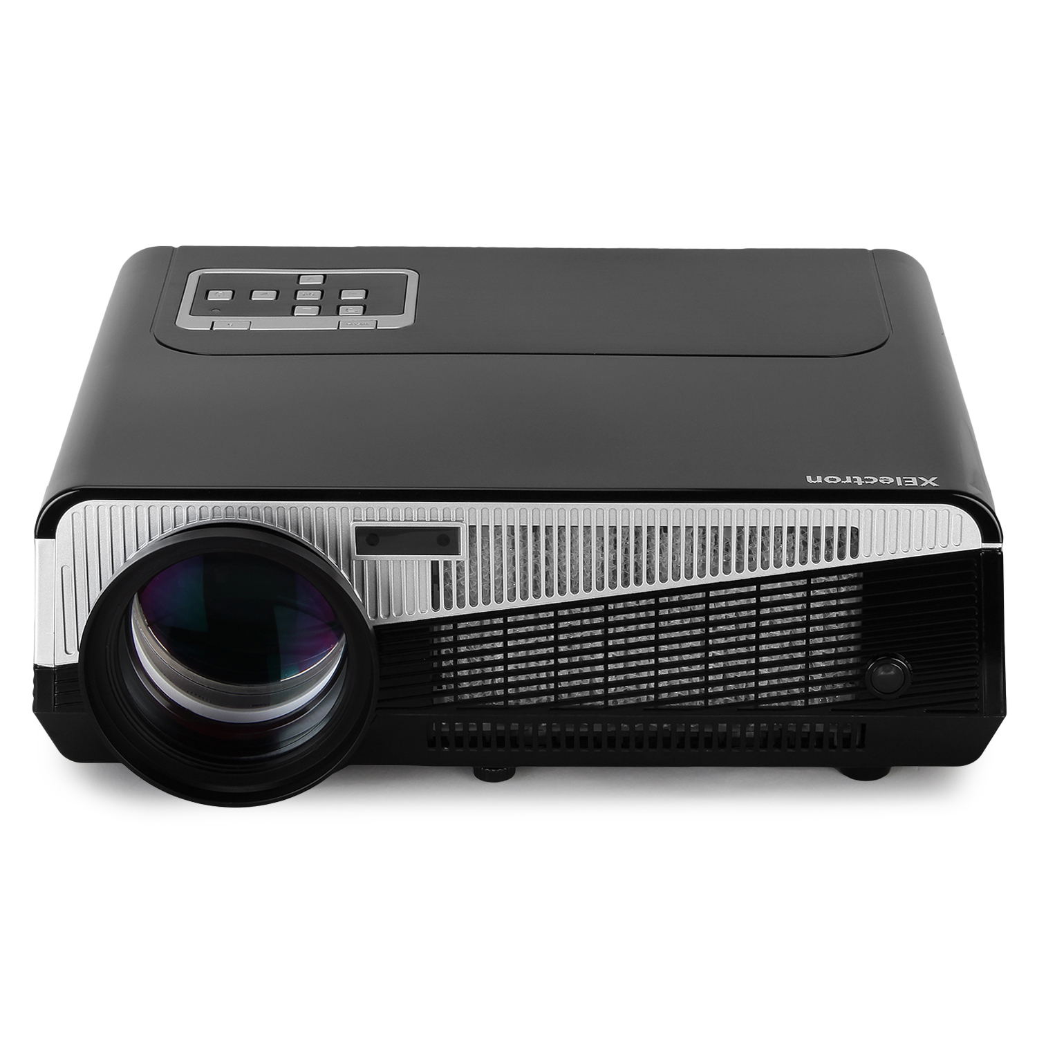 XElectron SM86+ Full HD LED Projector with 5000 Lumens 1080P, for Home, Office, Presentation and Educational Institutes (Black)