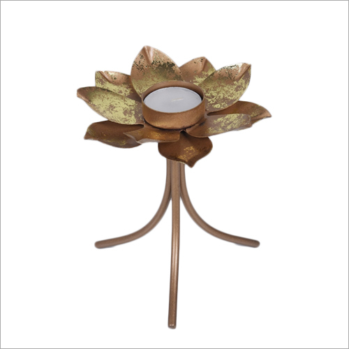 Flower Tea Light Candle Holder With Stand