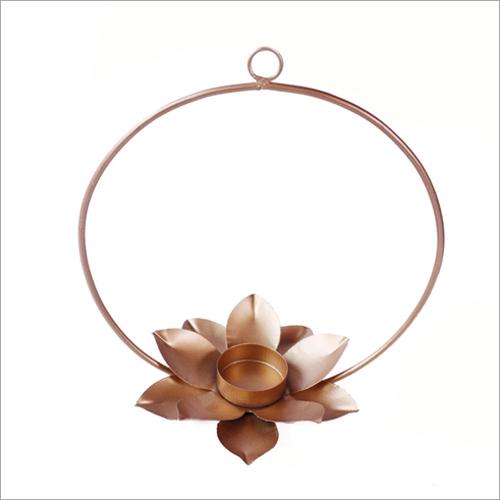 Flower Round Hanging Tea Light Candle Holder