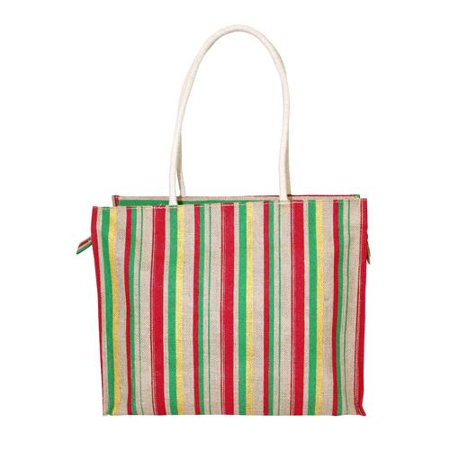 Customized Pp Laminated Jute Bag With Rope Handle & Zip Closure