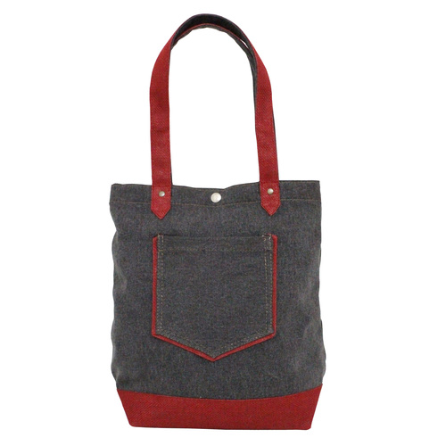 12 Oz Washed Canvas Tote Bag With Jute Trimmed Bottom