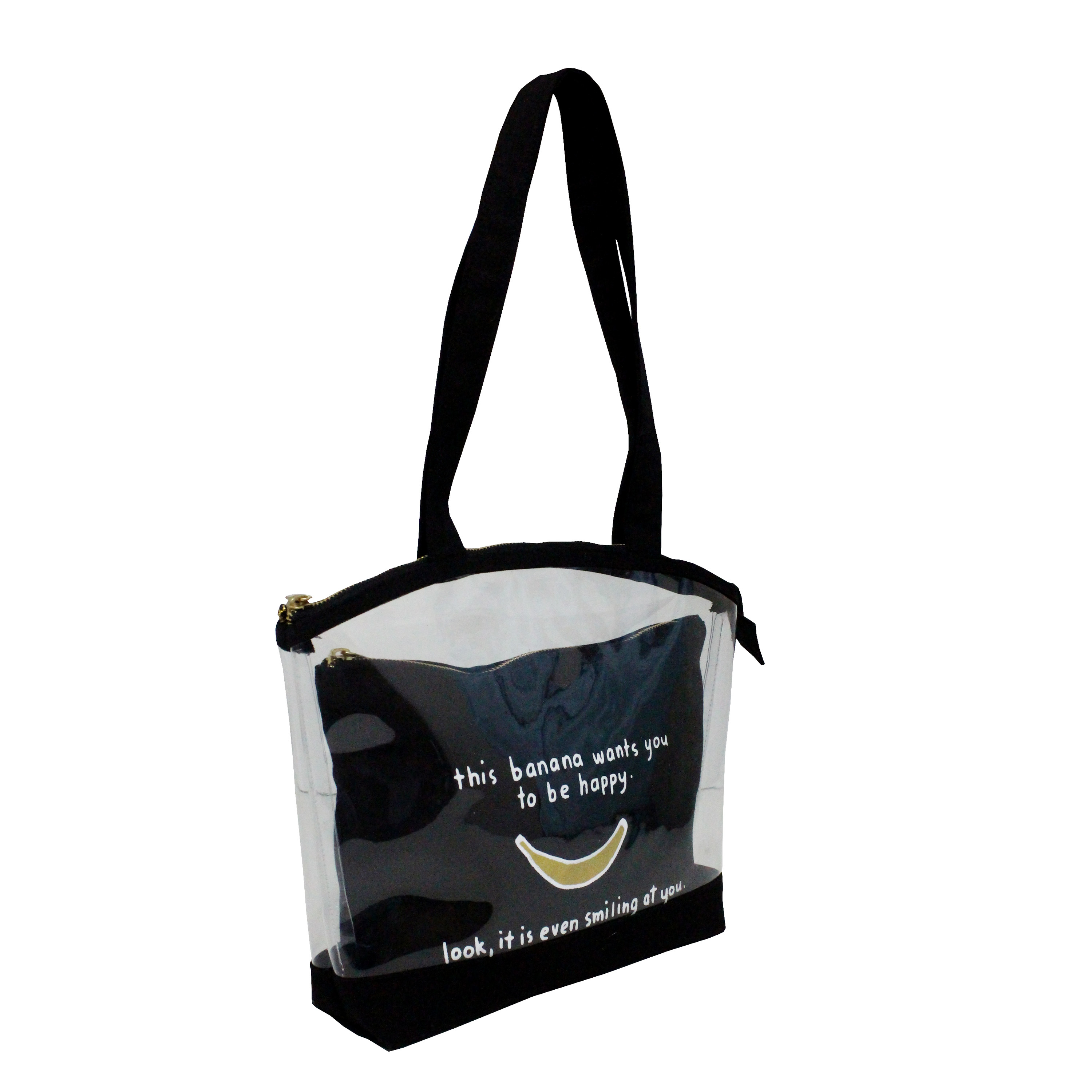 See Through Pvc / 12 Oz Canvas Bag With Pouch