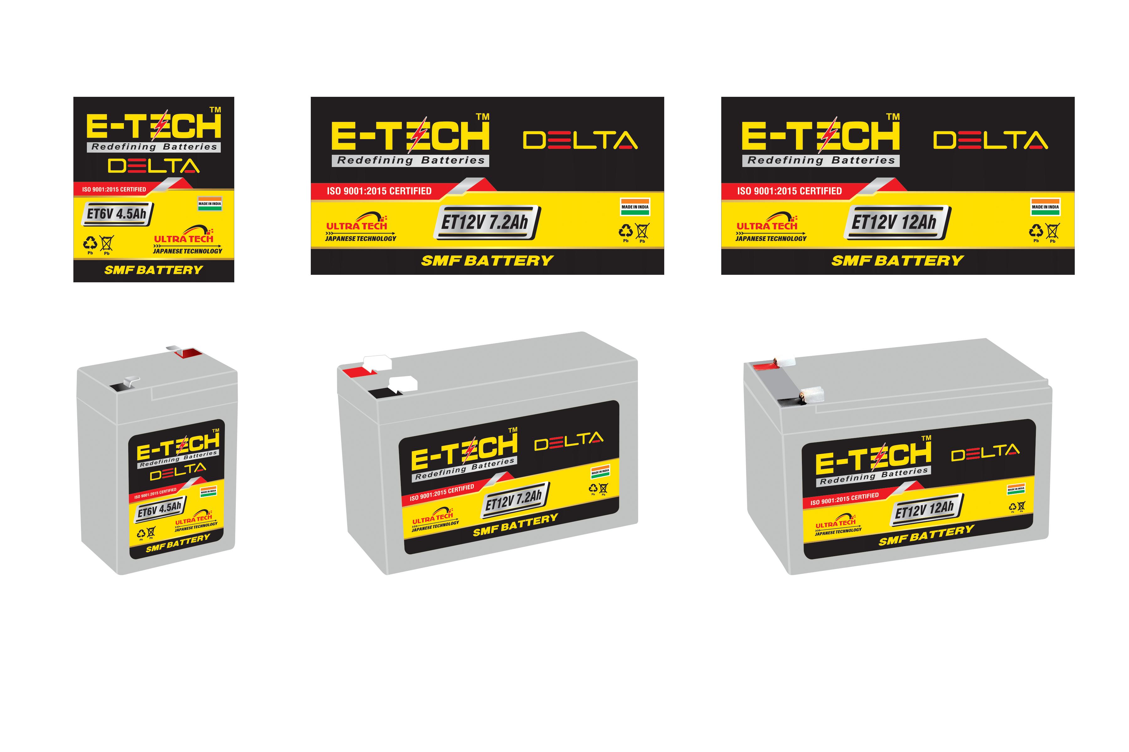 ERC E-TECH DELTA  12V 7.2AH UPS With 12 Month Warranty