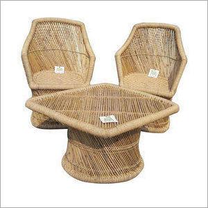Natural Bamboo Mudda and Table