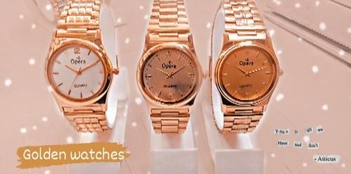 Golden Water Proof Watch