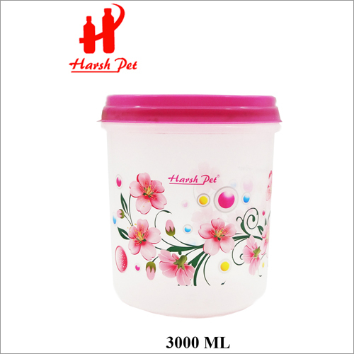 3000ml PP Pink Printed Royal Container