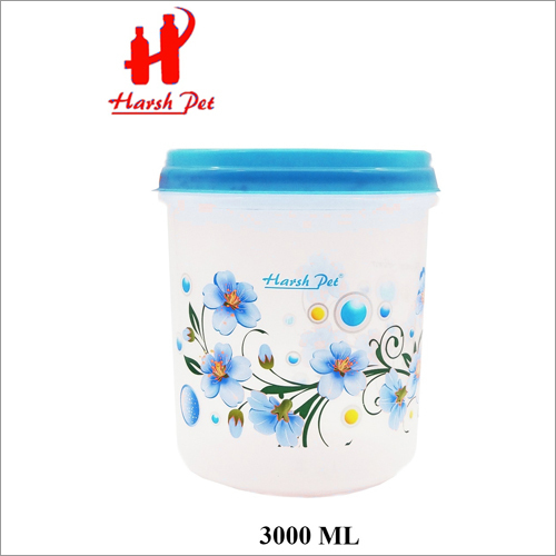3000ml PP Royal Print Blue Container