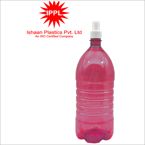 28mm Red Pet Plastic Pharma Bottle With 2000ml Pp Mist Cap