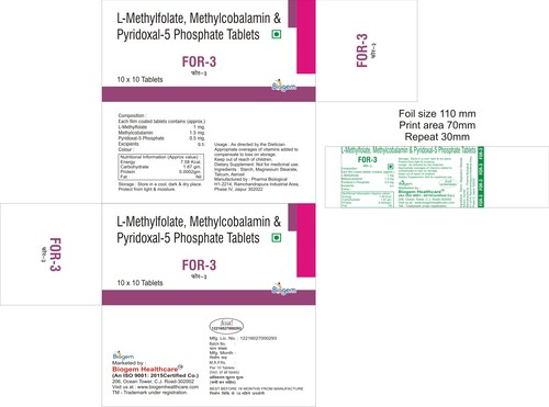 L METHYLFOLATE METHYLCOBALAMIN DHA