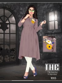 Sweet  Look Maslin Work Kurti Catlog