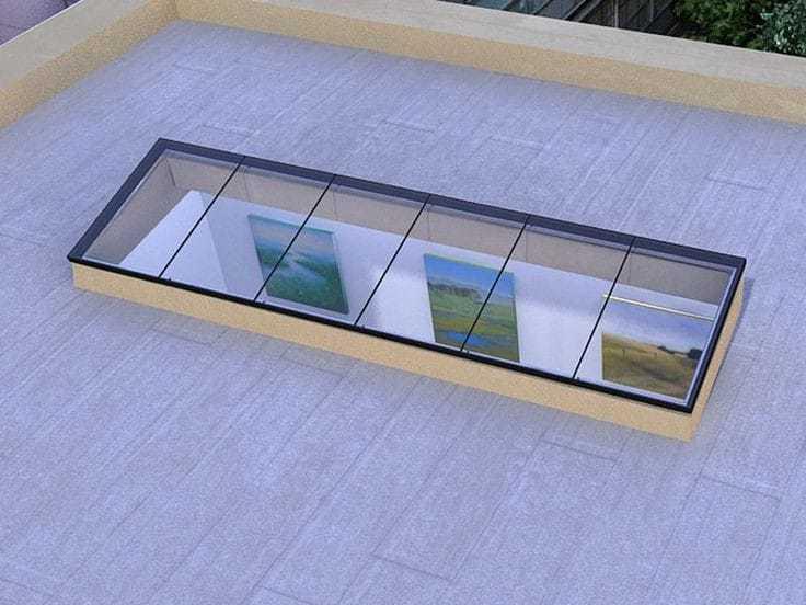 Aluminium Skylight Glass Facade