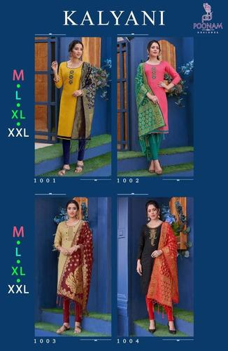 Kalyani Cotton Slub Kurti Catalogue Set