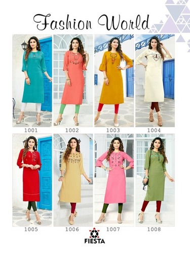 Fashion World Dhaga Handwork Kurti Set