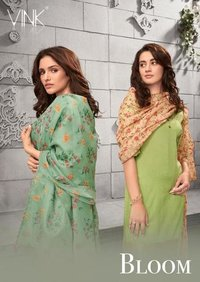 Bloom Viscose Zari Salwar Suits Set