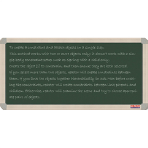 Resin Green Magnetic Chalk Board