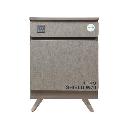 Graceful Grey With Teak Wood Legs UV Sterilization Box