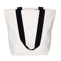 12 Oz Natural Canvas Bag With Open Hanging Pocket