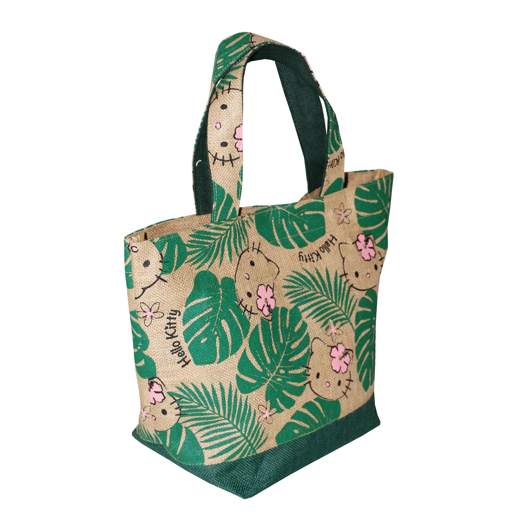 Pp Laminated Jute Bag With Jute Handle & Hanging Zip Pocket