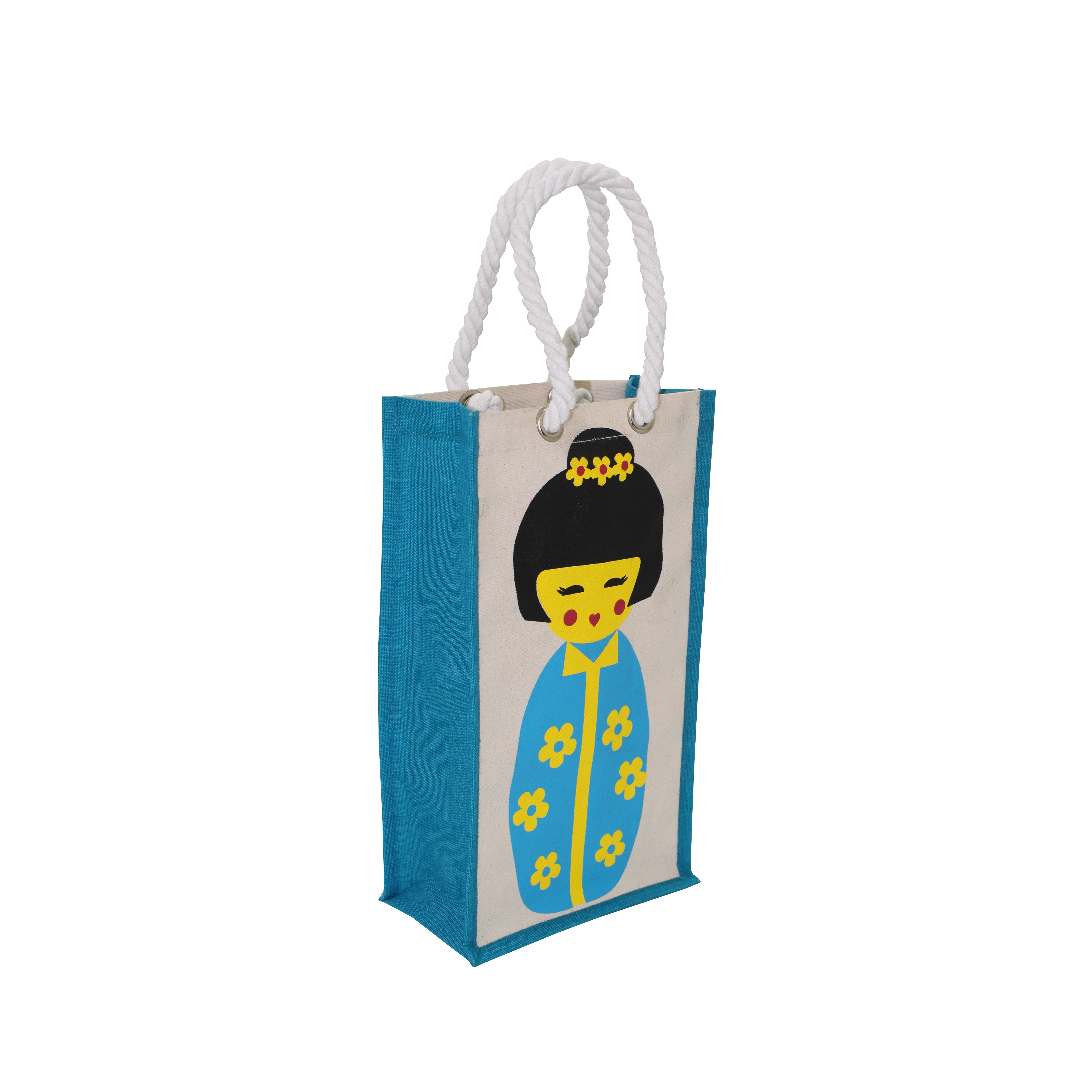 10 Oz PP Laminated Canvas Tote Bag With Twisted Rope Handle
