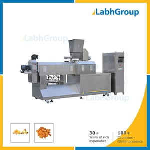 Double Twin Screw Food Extruder For Snacks
