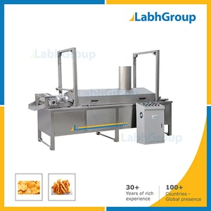 Electrical Continuous Fryer For Frying Snacks Food
