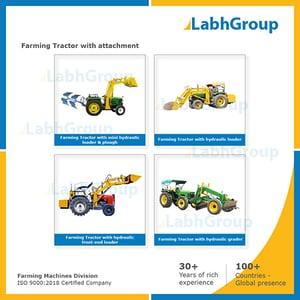 Farming Tractor With Attachment