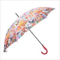 Straight Auto Open English Umbrella
