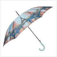 Windproof Auto Open Straight Umbrella