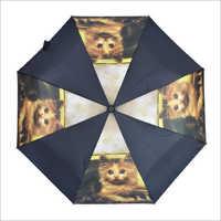 3 Fold Auto Open Cat Design Umbrella
