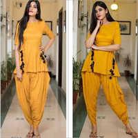 Ladies Rayon Dhoti Style Kurtis