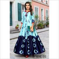 Ladies Rayon Long Gown Kurtis